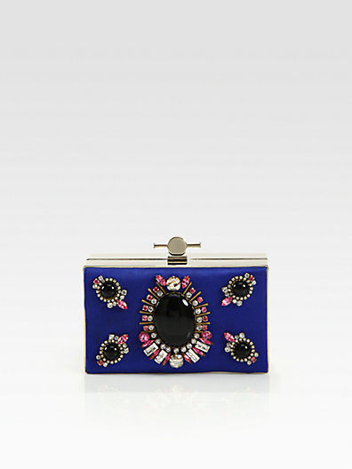 Jason Wu Karlie Embellished Satin Box Clutch