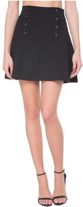 Juicy Couture Flirty Ponte Button Front Skirt
