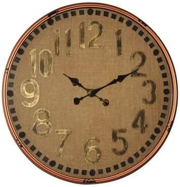 Wayfair Oversized CG Burlap 24.75 Wall Clock