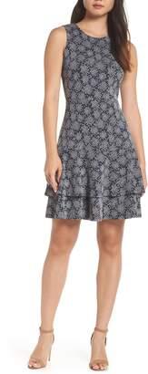 MICHAEL Michael Kors Tiered Fit & Flare Dress