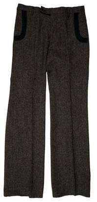 Veronique Branquinho Flat Front Tweed Dress Pants