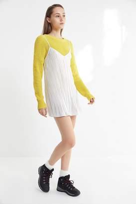 Urban Outfitters Metallic Pleated Mini Slip Dress
