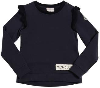 Moncler Cotton Sweatshirt W/ Knit Details