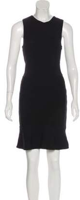 Camilla And Marc Cutout-Accented Knee-Length Dress Black Cutout-Accented Knee-Length Dress