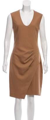 L'Agence Sleeveless Midi Dress