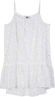 Milly Chevron Crochet High-Low Coverup Size 7-16