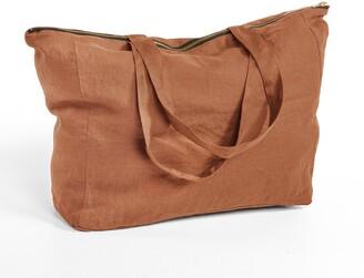 Am.pm. Elina Linen Zip-Up Bag