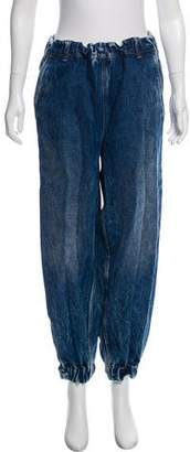 MM6 MAISON MARGIELA High-Rise Ruffled Jeans
