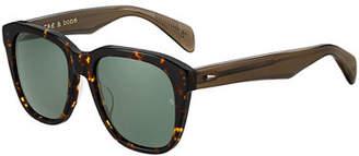 Rag & Bone Men's Modified Square Acetate Sunglasses
