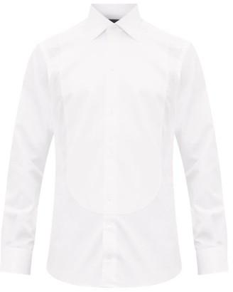 Thom Sweeney - Honeycomb Plastron Cotton Twill Tuxedo Shirt - Mens - White