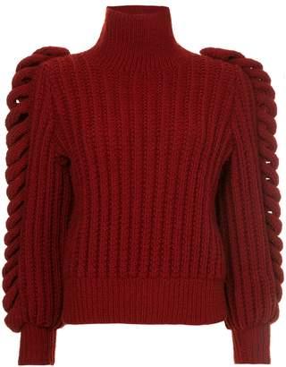 Liya chunky knit turtleneck sweater