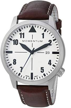 Momentum Men's Sports Watch | Fieldwalker Automatic Leather Adventure Watch by | Stainless Steel Watches for Men | Analog Watch with Automatic Japanese Movement | Water Resistant (200M/660FT) Classic Watch - Lume / 1M-SN92LS2C