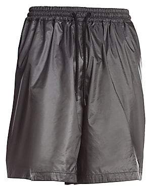Marcelo Burlon County of Milan Men's Metallic Multi-Logo Shorts