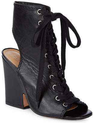 Schutz Dudaflor Lace-Up Leather Sandal