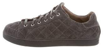 Gianvito Rossi 2017 Low Driver Quilted Sneakers