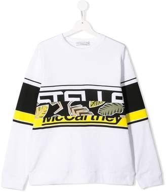 Stella McCartney TEEN jungle logo stripe sweatshirt