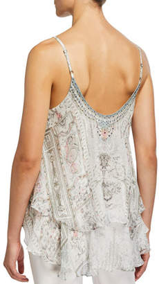 Camilla Layered V-Neck Silk Cami