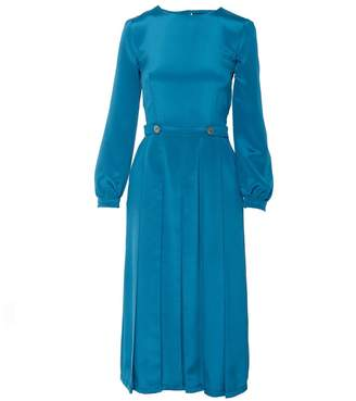 Shopyte - Egyptian Blue Silk Dress
