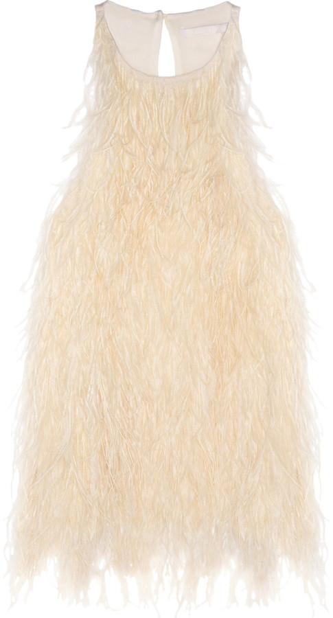 Antonio Berardi Feathered silk-crepe top