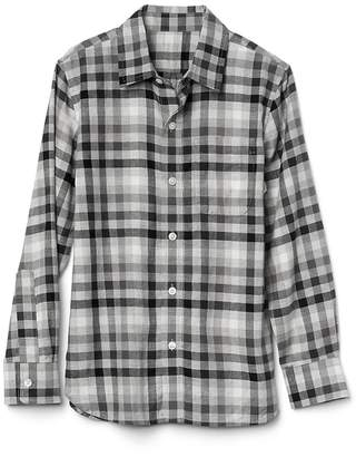 Gap Gingham flannel long sleeve shirt