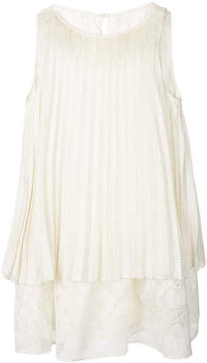 Class Roberto Cavalli voile fil coupe light beige with feather detail