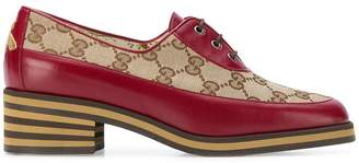 Gucci GG mid-heel lace-up shoes