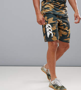 Canterbury of New Zealand Vapodri Camo Stretch Knit Shorts In Khaki Exclusive To ASOS