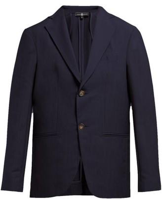Edward Crutchley Single Breasted Wool Blazer - Womens - Navy