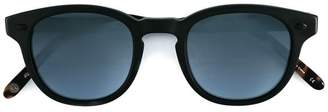 Garrett Leight matte black and dark turquoise 'Warren' sunglasses