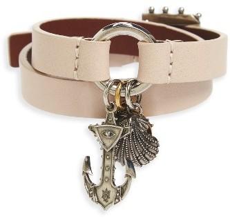 Alexander McQueenWomen's Alexander Mcqueen Marine Leather Wrap Bracelet