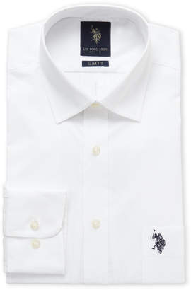 U.S. Polo Assn. White Slim Fit Dress Shirt