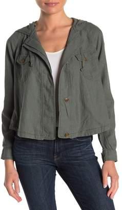 UNIONBAY Clarice Linen Blend Hooded Jacket