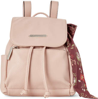 Steve Madden Blush Btran Scarf-Accented Backpack