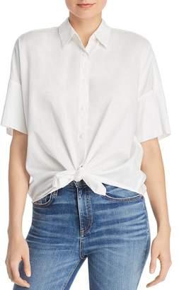 Rag & Bone Cotton Tie-Front Shirt