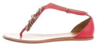 AERIN Embellished Leather Sandals