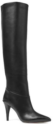 MICHAEL Michael Kors Women's Rosalyn Leather Pointed Toe Tall Boots
