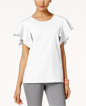 Alfani PRIMA Flutter-Sleeve Top, Only at Macy's $69.50 thestylecure.com
