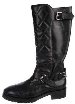 Ralph Lauren Quilted Leather Boots
