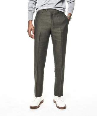 Todd Snyder White Label Sutton Linen Suit Trouser in Olive
