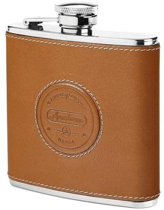 Aspinal of London Aerodrome Classic Leather Hip Flask
