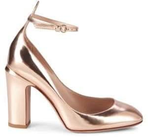 Valentino Tango Block Heel Leather Pumps