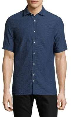J. Lindeberg Short-Sleeve Cotton Button-Down Shirt