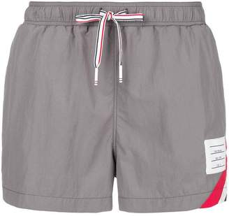 Thom Browne Seam Stripe Swim-Tech Swim Short