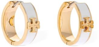 Tory Burch Kira Brass & Enamel Earrings
