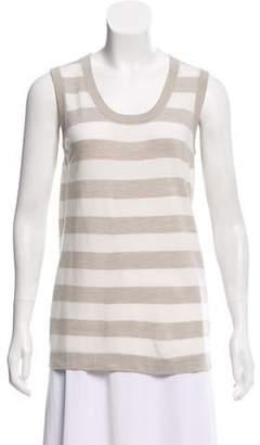 Akris Punto Sleeveless Striped Sweater