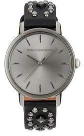 Rebecca Minkoff BFFL Gunmetal Tone Multi Studded Leather Watch, 36MM