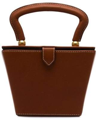 Staud brown Sadie mini structured leather bag