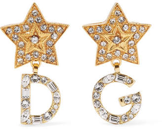 Dolce & Gabbana Gold-tone Crystal Earrings