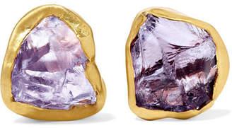 Pippa Small 18-karat Gold Amethyst Earrings - one size