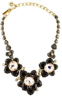 Oscar de la Renta Faceted Resin & Crystal Flower Statement Necklace